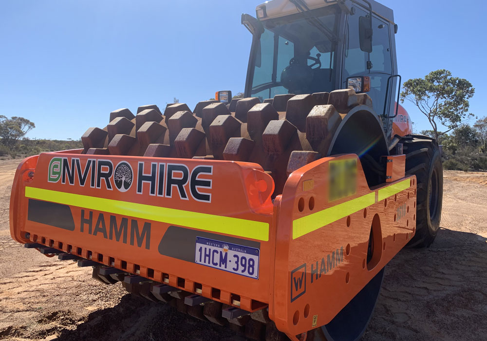 padfoot roller 18 tonne hire